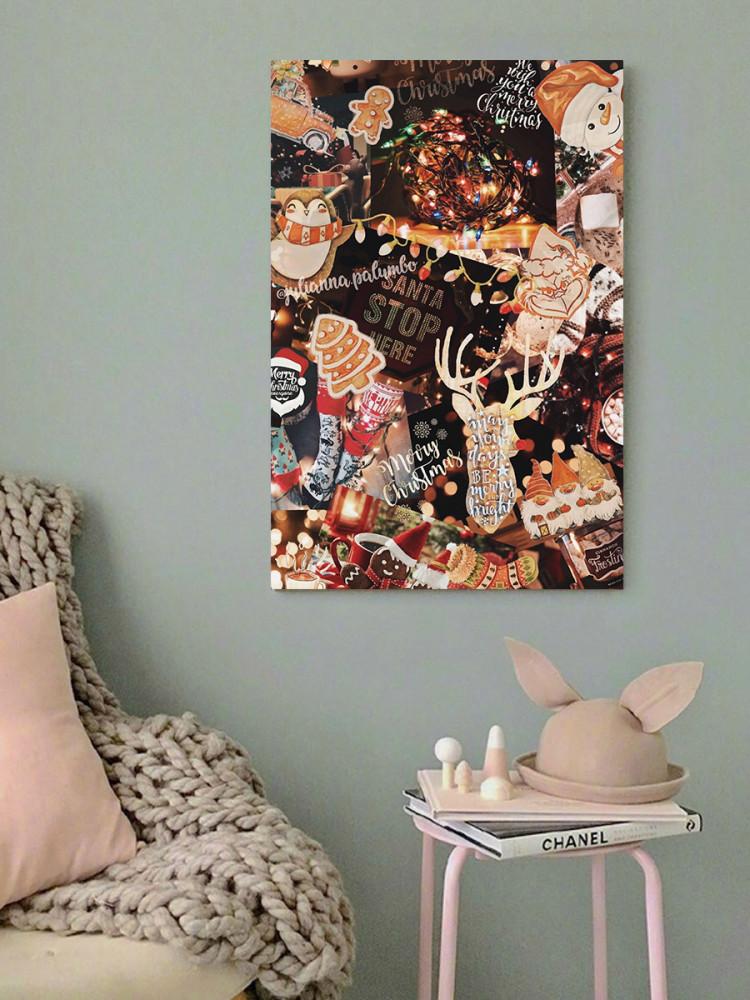 لوحة ميري كريسماس خشب ام دي اف مقاس 40x60 سنتيمتر