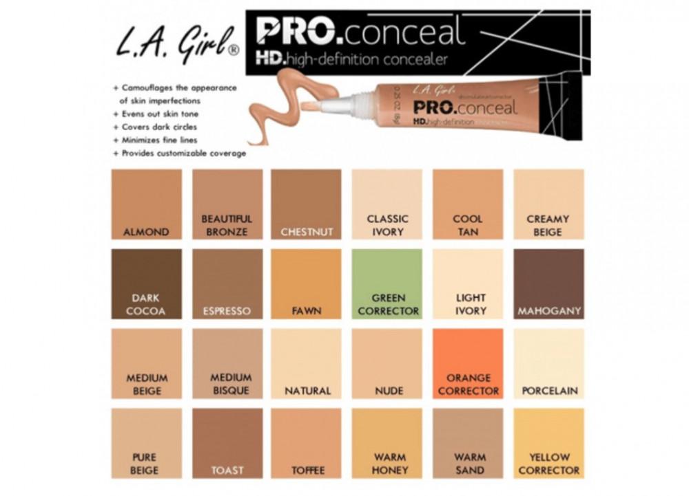 ال اي جيرل خافي عيوب كونسيلر برو LA Girl Pro Conceal HD Concealer GC