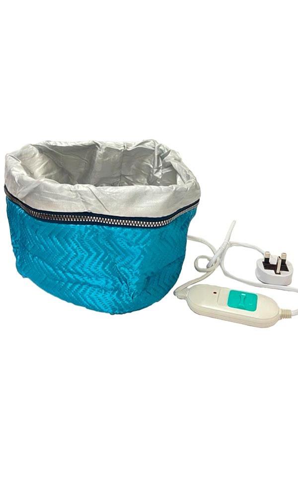 قبعة كهربائية حرارية العناية بالشعر بالبخار بالمعالجة الحرارية ازرق