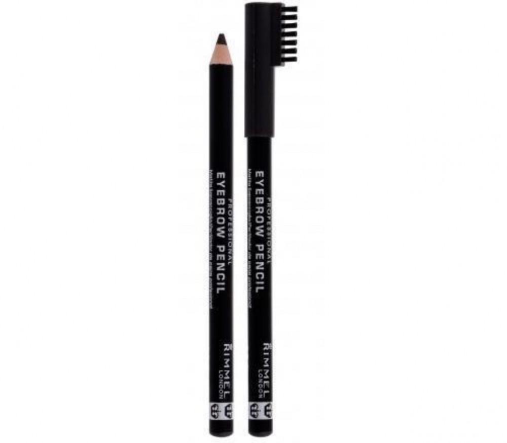 ريميل لندن قلم تحديد حواجب لون بني اسود 004 ريميل RIMMEL EYEPROW PENCI