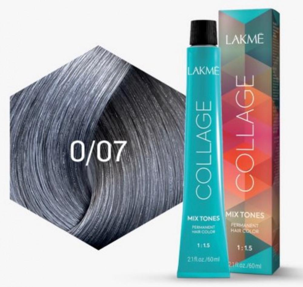 لاكمي صبغة الشعر كولاج كريم فضي 07-0 60مل Lakme Collage Creme Hair Col