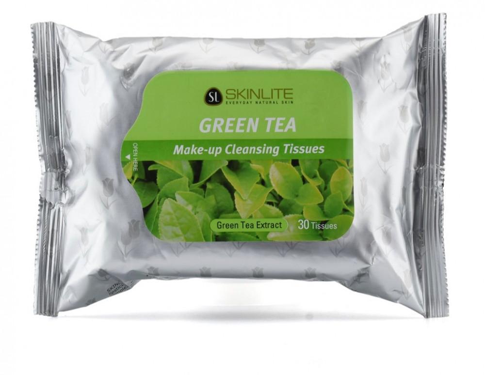 مناديل منظفة للمكياج بالشاي الأخضر