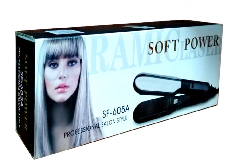 Wide Ceramic Flat Iron for Hair Straightener SF-605A Soft Power