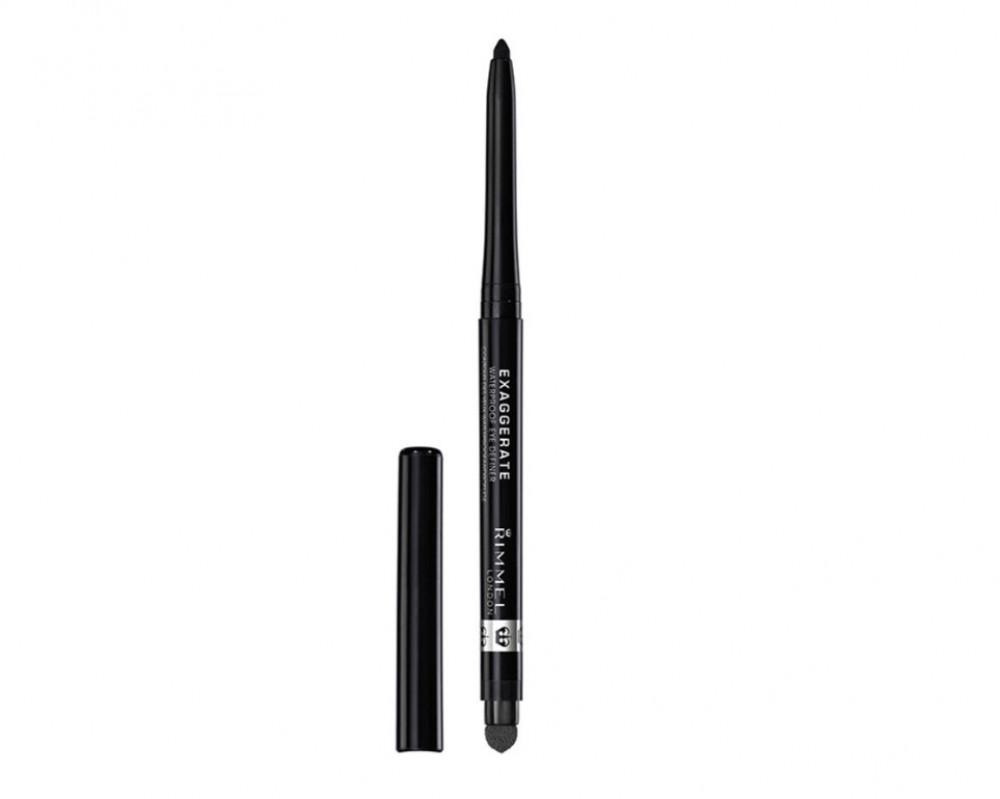 ريميل قلم تحديد العيون إكساجريت مقاوم للماء مزود بفرشاة مدمجة 262 بلاك