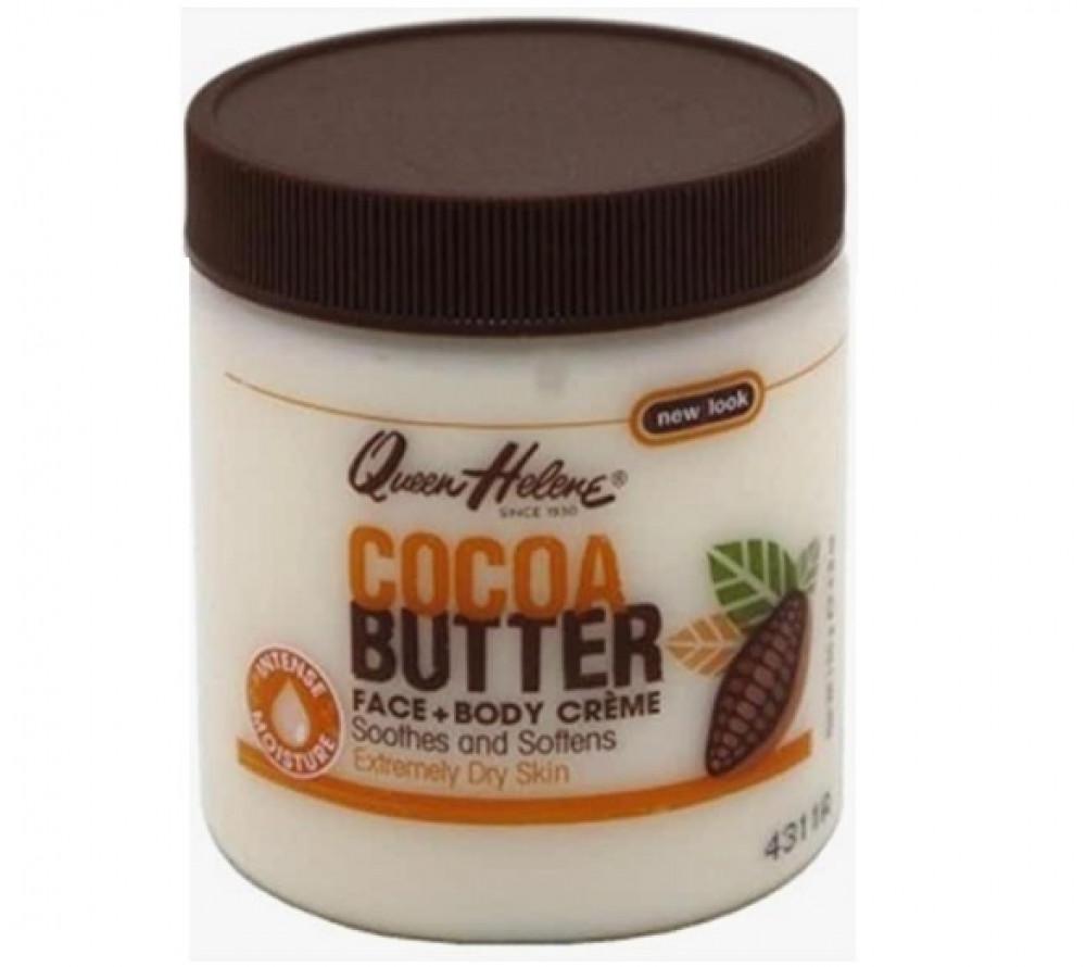 كوين هيلين كريم للجسم والوجه زبدة الكاكاو QUEEN HELENE Cocoa Butter Cr