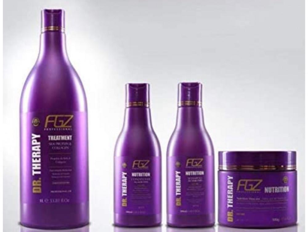 فوجاتزا كوزمتيكس مجموعة من 4 قطع لفرد الشعر وترميمه  FOGAZZA  COSMETIC