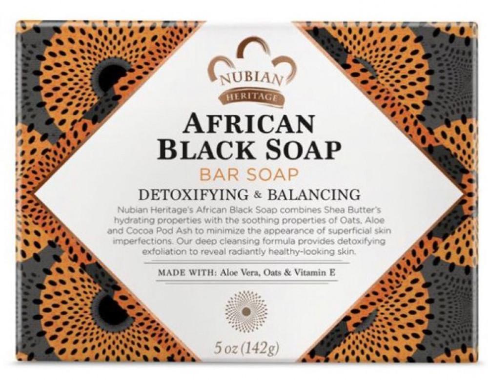 نوبيان هيريتاج صابون افريقي اسود 142غم Nubian African Black Soap