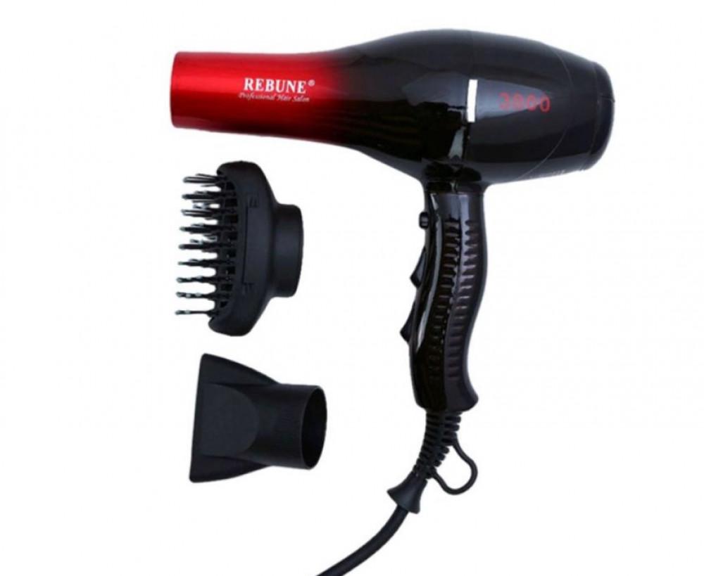 ريبون مجفف شعر بتحويل التردد RE-2046 اسود احمر Rebune Hair Dryer