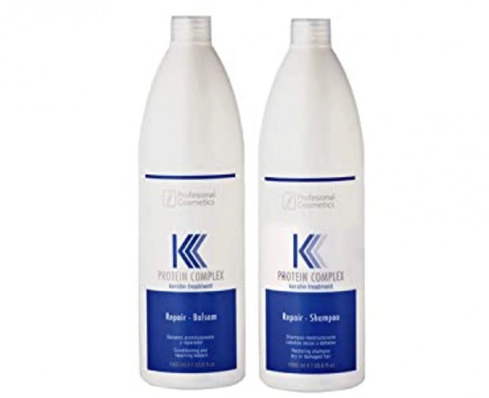 كيه شامبو وبلسم مركب البروتين لمعالجة الشعر بالكيراتين 1000مل K Protei