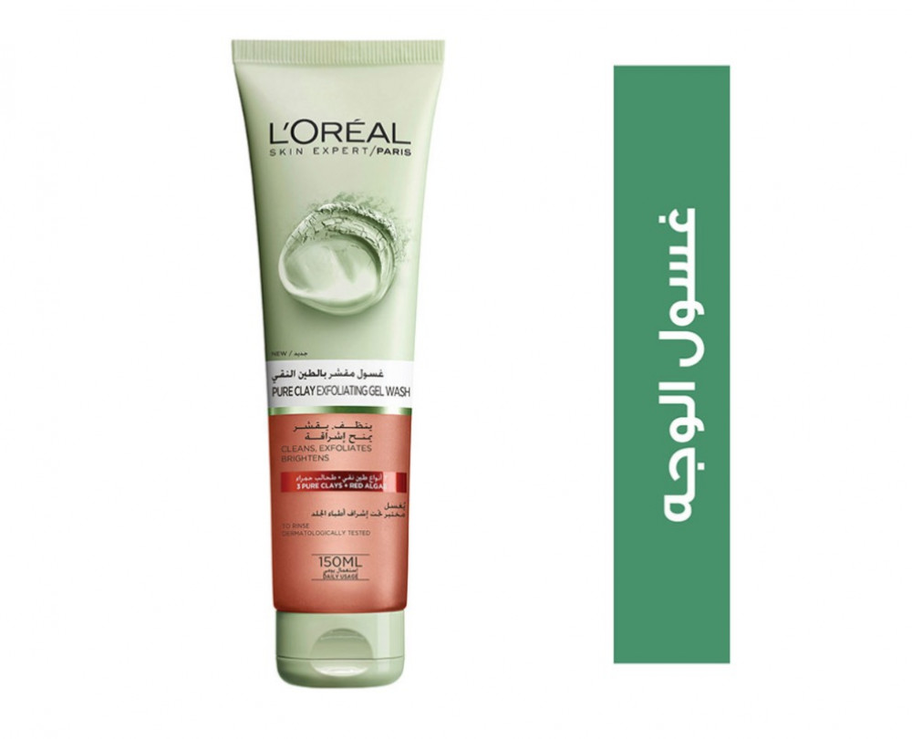 LOREAL Paris Pure Clay Red Face Wash with Red Algae