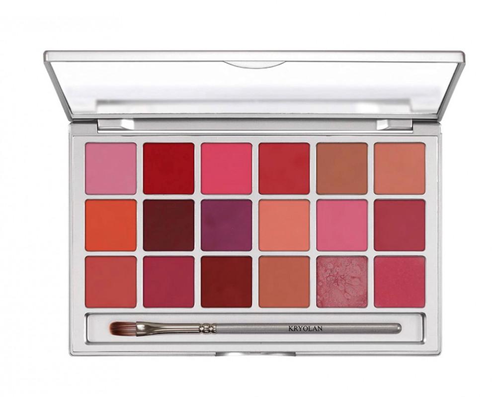 كرايولان مجموعة احمر شفاه 18 لون  Kryolan Lip Rouge Set 18 Colors - TR
