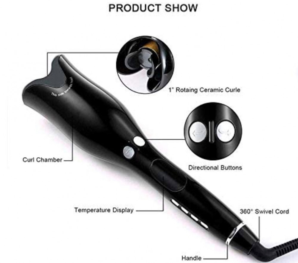 High quality Hair Curler Multifunctional Ceramic Rotating Curling Iron