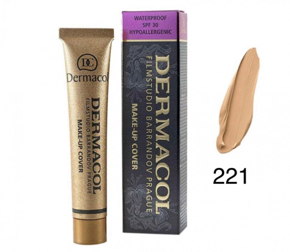 ديرماكول كريم اساس 221 للوجه DERMACOL Make Up Cover Foundation 221