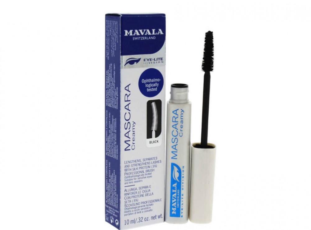 مافالا ماسكارا كريم 01 للعين اسود  10 مل Mavala Creamy Mascara
