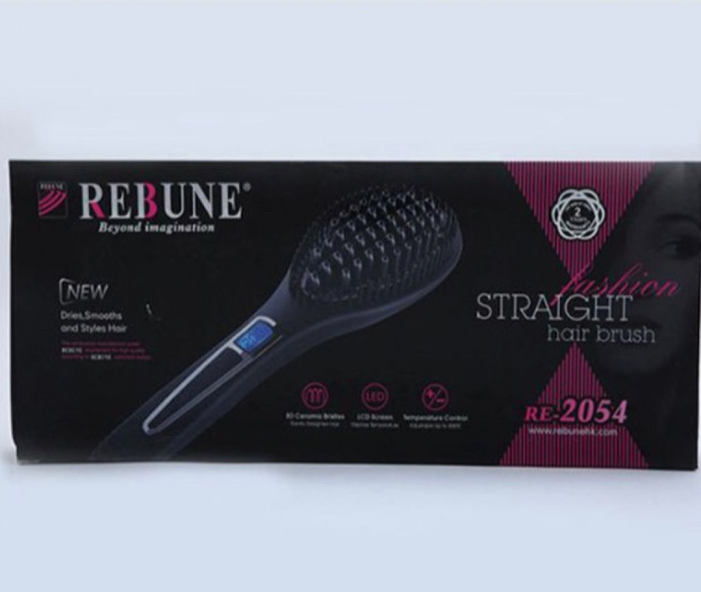 ريبون فرشاة شعر رقمية RE-2054 اسود rebune Digital Hair Brush Black