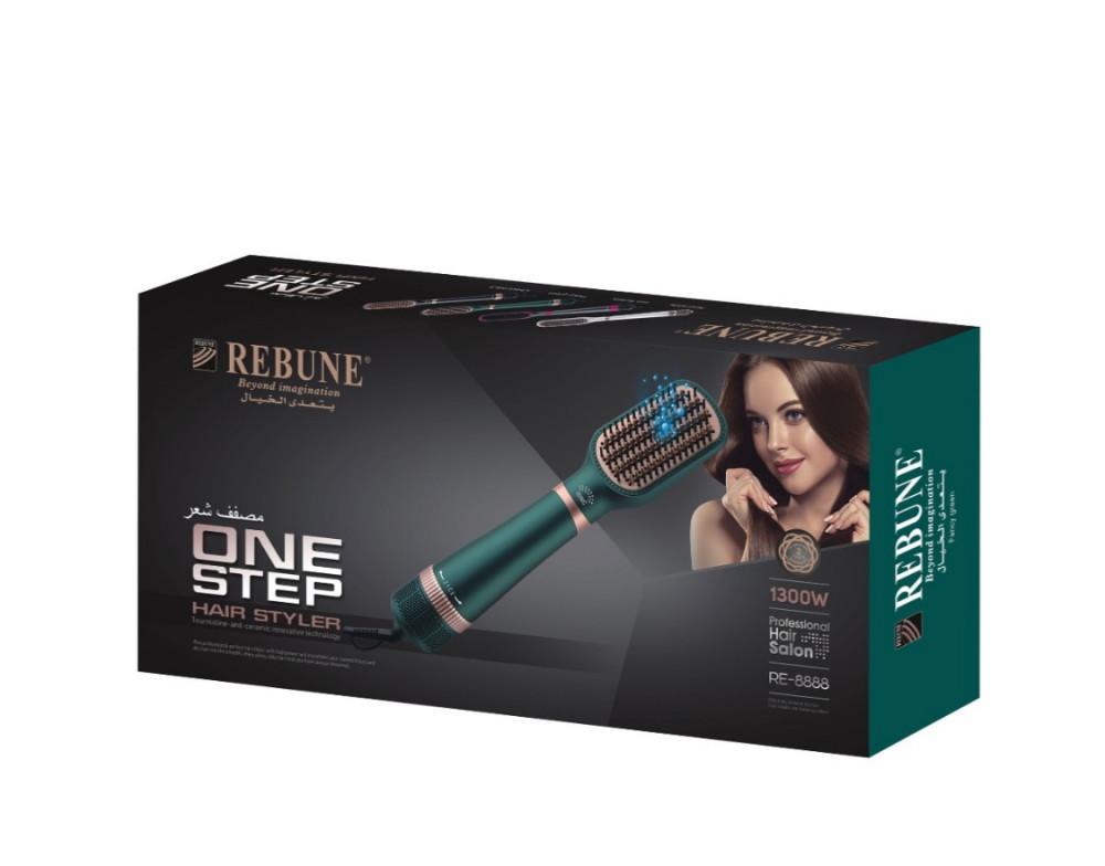 ريبون مصفف شعر 2 في 1 بالايونات RE-8888 اخضر 1300واط  Rebune Hair Styl