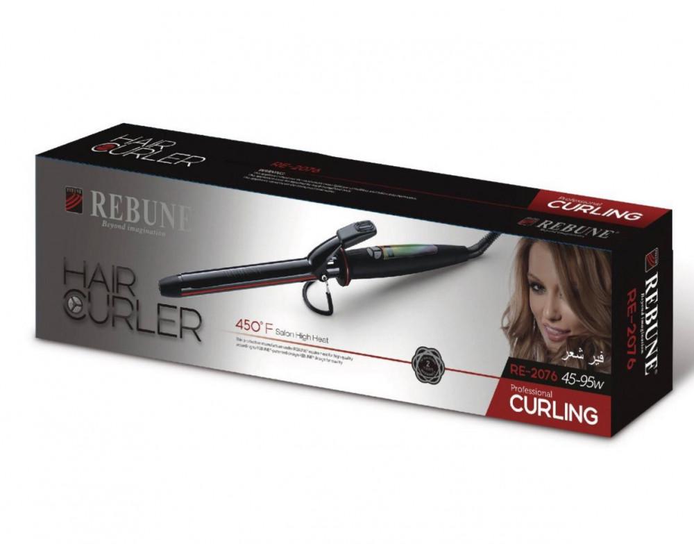ريبون جهاز تجعيد الشعر الرقمي RE-2076 اسود 19 ملم REBUNE CURLING