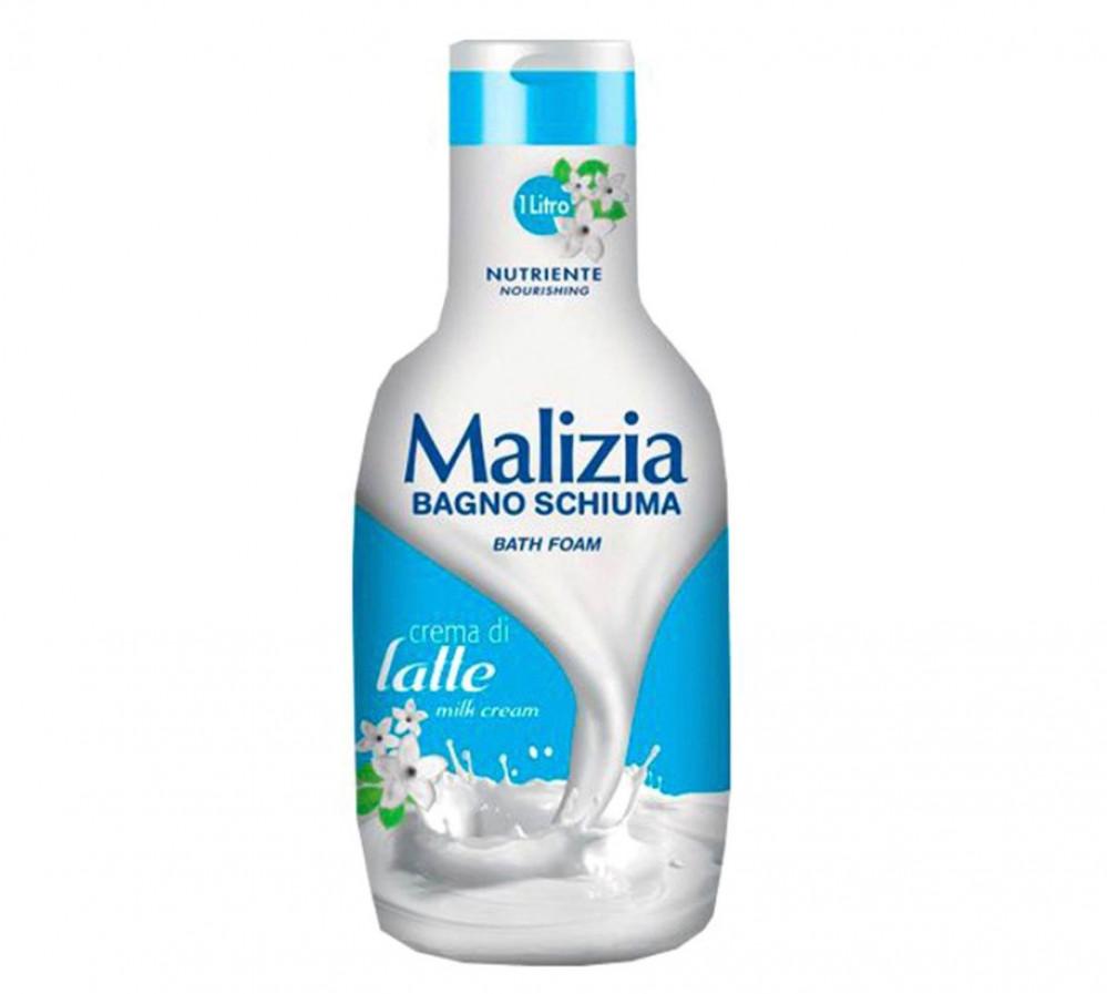 Malizia Bagno Schiuma Milk Cream Bath Foam Shower Gel