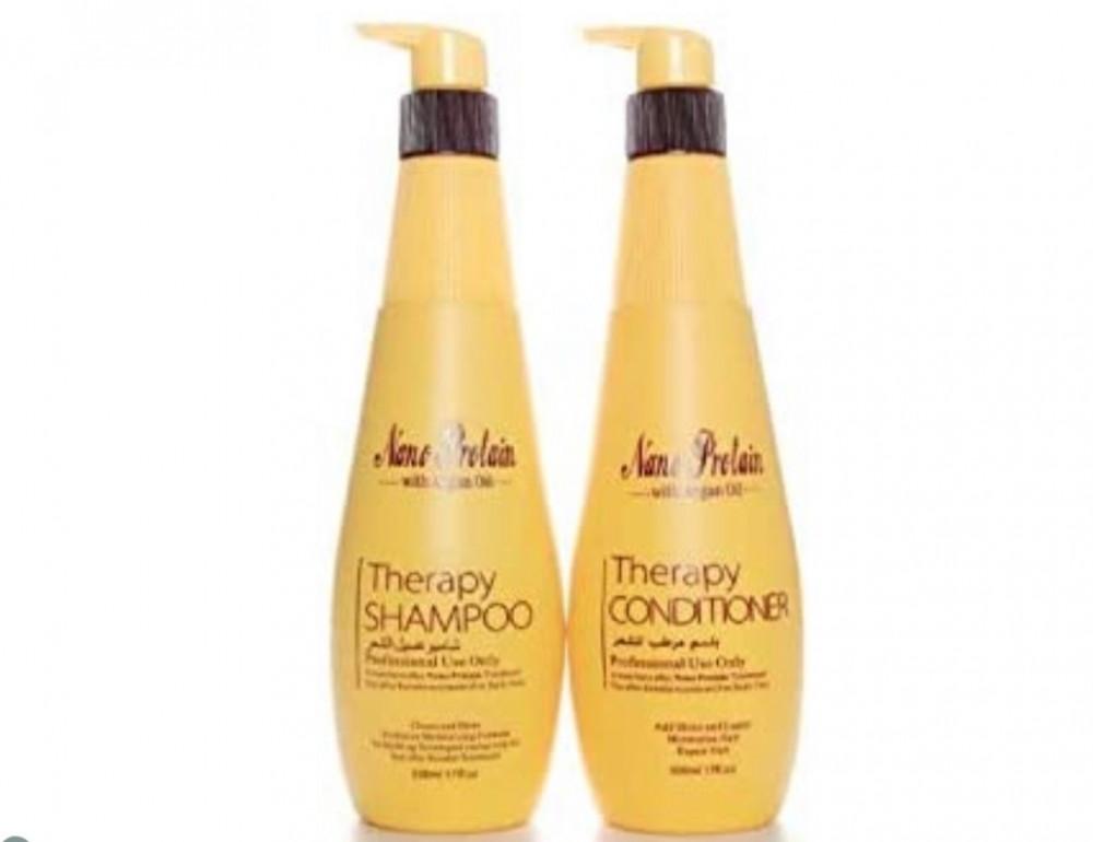 نانو بروتين طقم شامبو وبلسم بالارغان 500مل Nano Protein Shampoo And Co