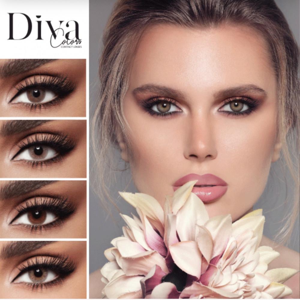ديفا عدسات لاصقة ملونة ديفا - ساندي DIVA