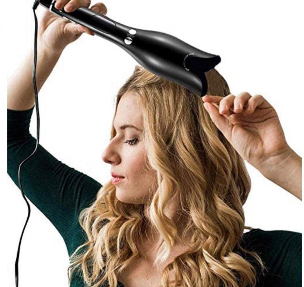 مكواة تجعيد الشعر متعدد الوظائف مكواة تجعيد سيراميك  أوتوماتيكية اسود