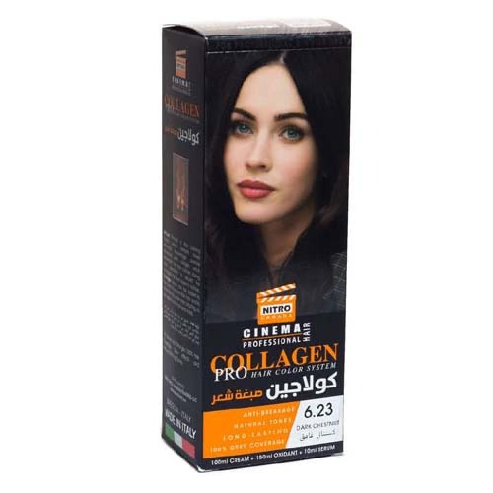 نيترو كندا سينما كولاجين صبغة شعر رقم  6,23 كستنائي غامق