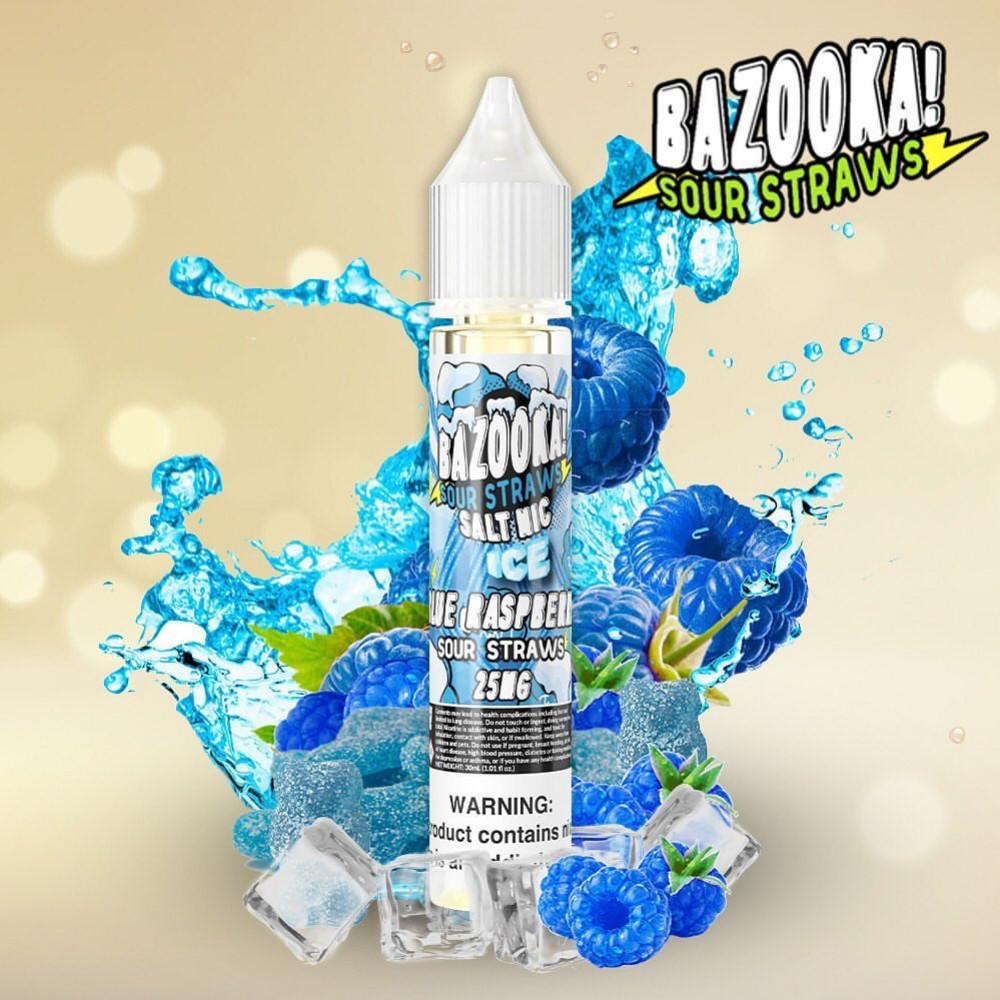 نكهة بازوكا التوت الازرق ايس- سولت - BAZOOKA BLUE RASPBERRY Ice Salt