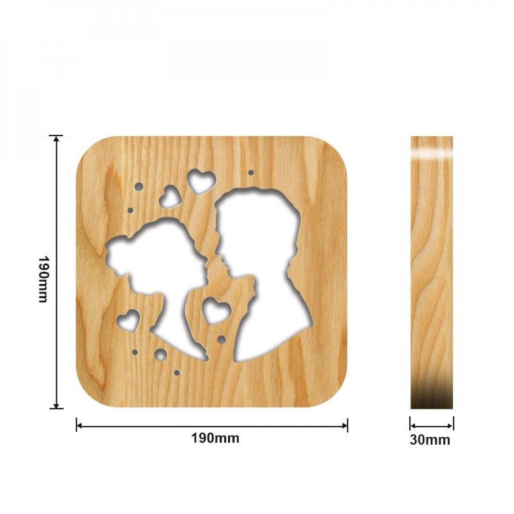 من متجر مواسم تحفة فنية أنيقة شكل زوجين القياسات التفصيلية للتحفة