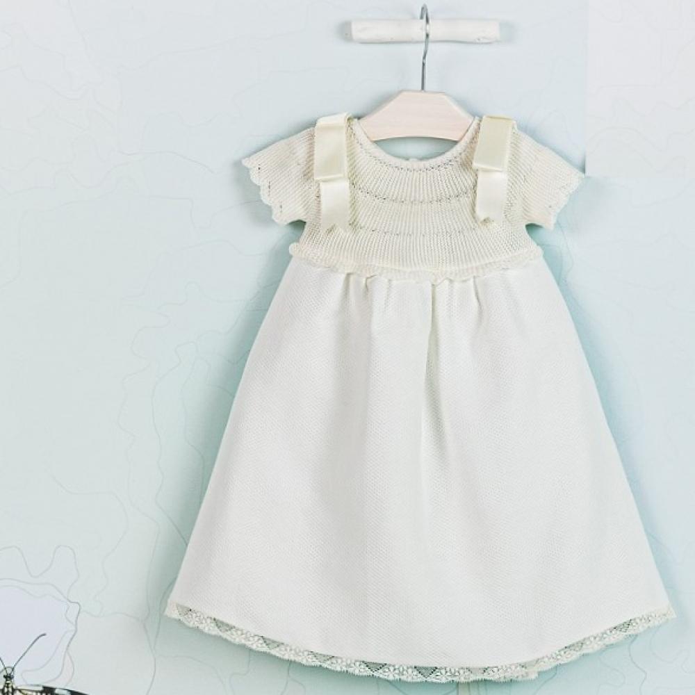 فستان طويل للمواليد انيق من ماركة  Mebi Root من دوها