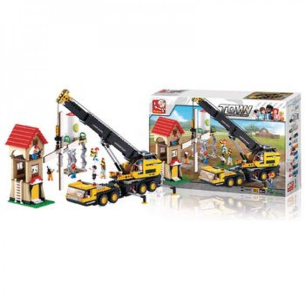 سلوبان, قطع تركيب, رافعة بناء, Toys, Sluban, ألعاب, Town Construction