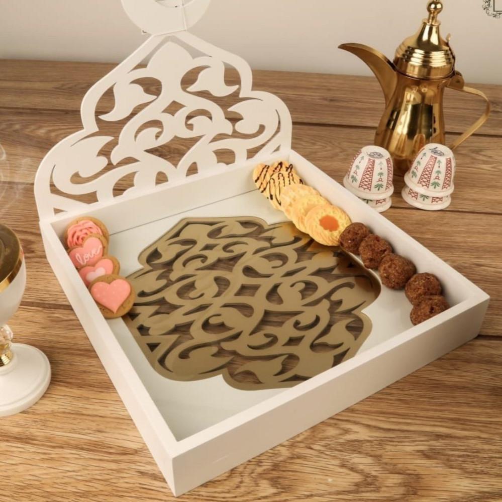 تبسي او صحن تقديم رمضان للتمور و الحلويات