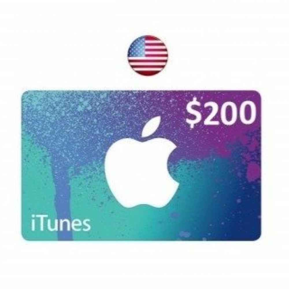 ايتونز امريكي 200 دولار