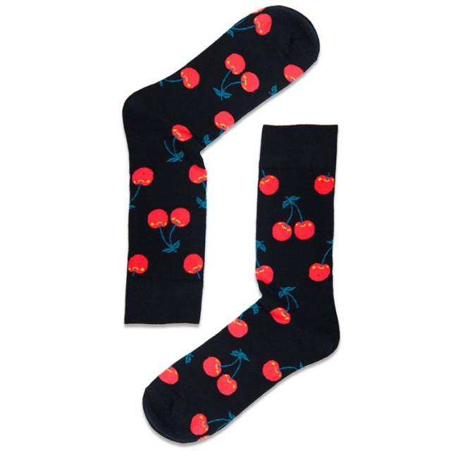 جوارب قطنية - تصاميم خلابة مبدعة - جورب الكرز الأصفر - Apogee socks