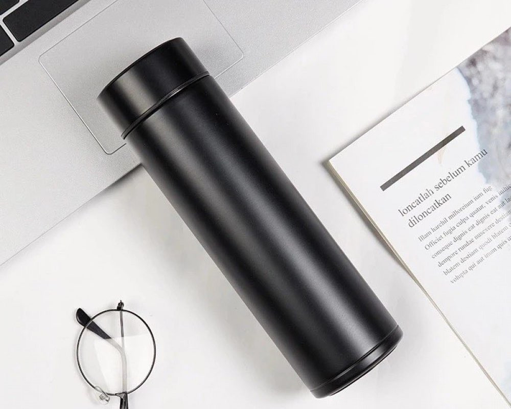 حافظة قهوة ذكية مع قارئ درجة الحرارة
