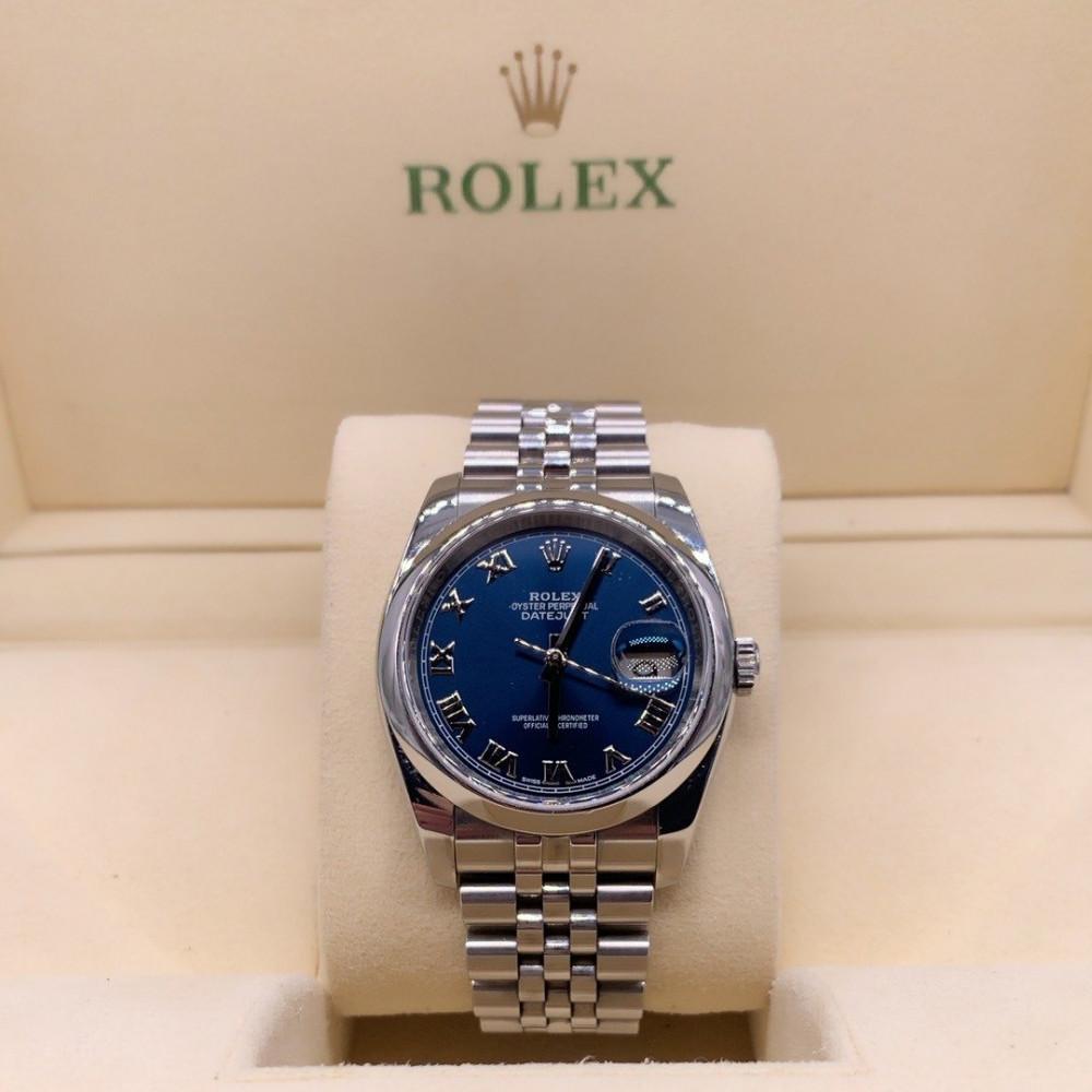 ساعة رولكس ديت جست ستيل الأصلية الفاخرة مستخدمة