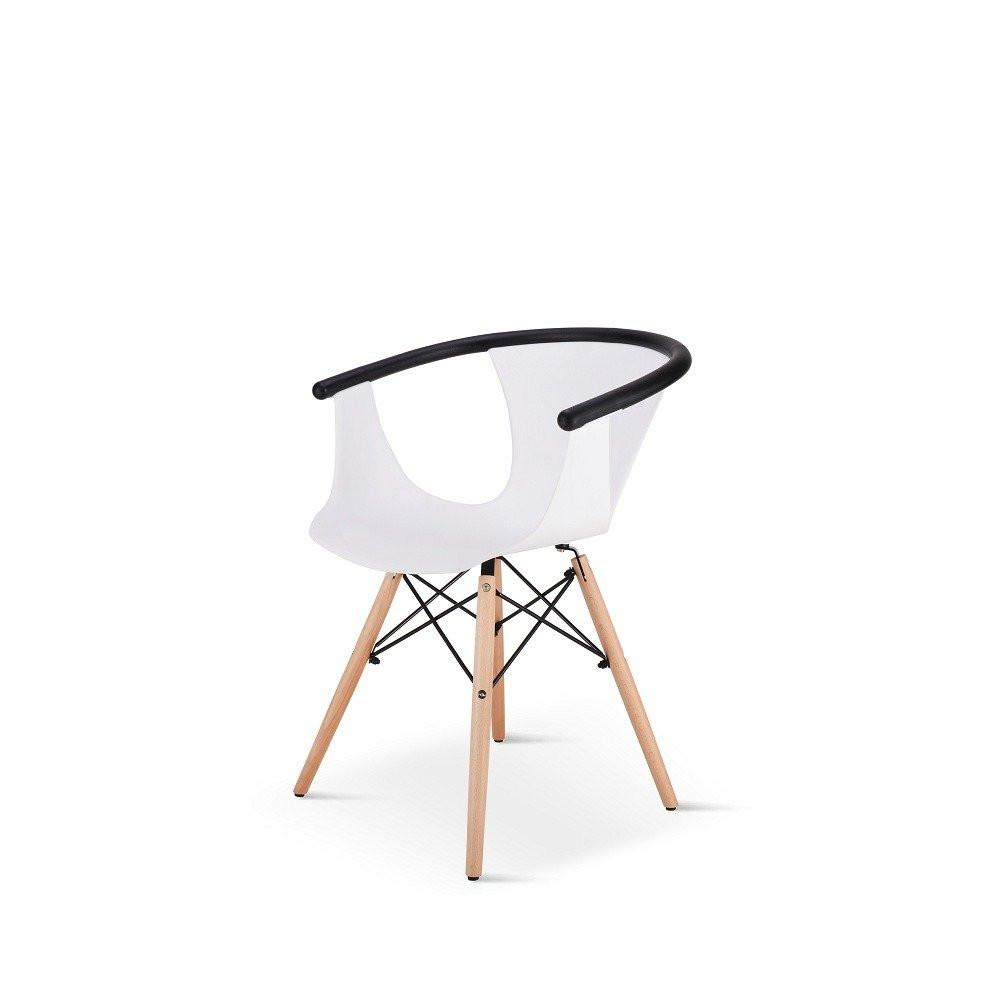 كرسي للكافيهات وجلسات وناسة من طقم كراسي 5 قطع لون أبيض من يوتريد