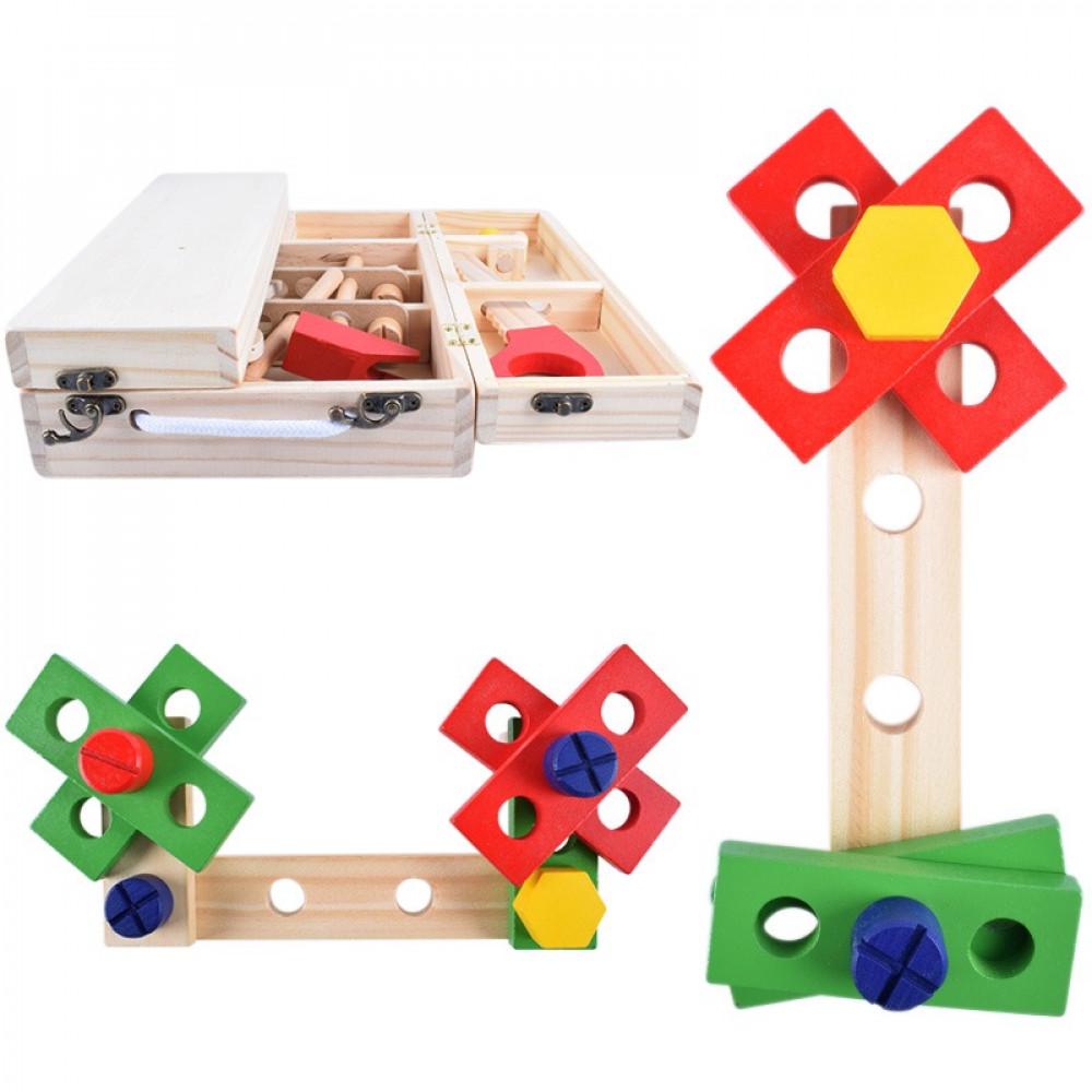 لعبة صناعة الاشكال الخشبية للاطفال