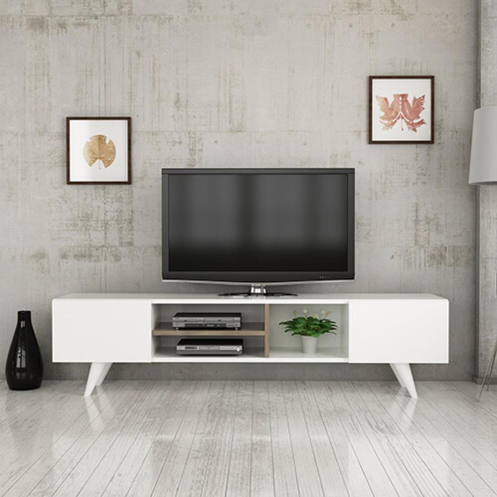صور طاولات التلفاز طاولة تلفزيون خشب موديل أسطنبول حصرية ومميزة مواسم