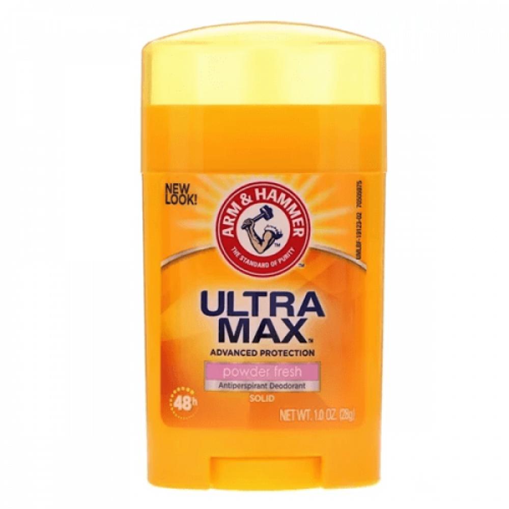 مزيل التعرق Ultra Max Powder Fresh من ارم اند هامر 28g