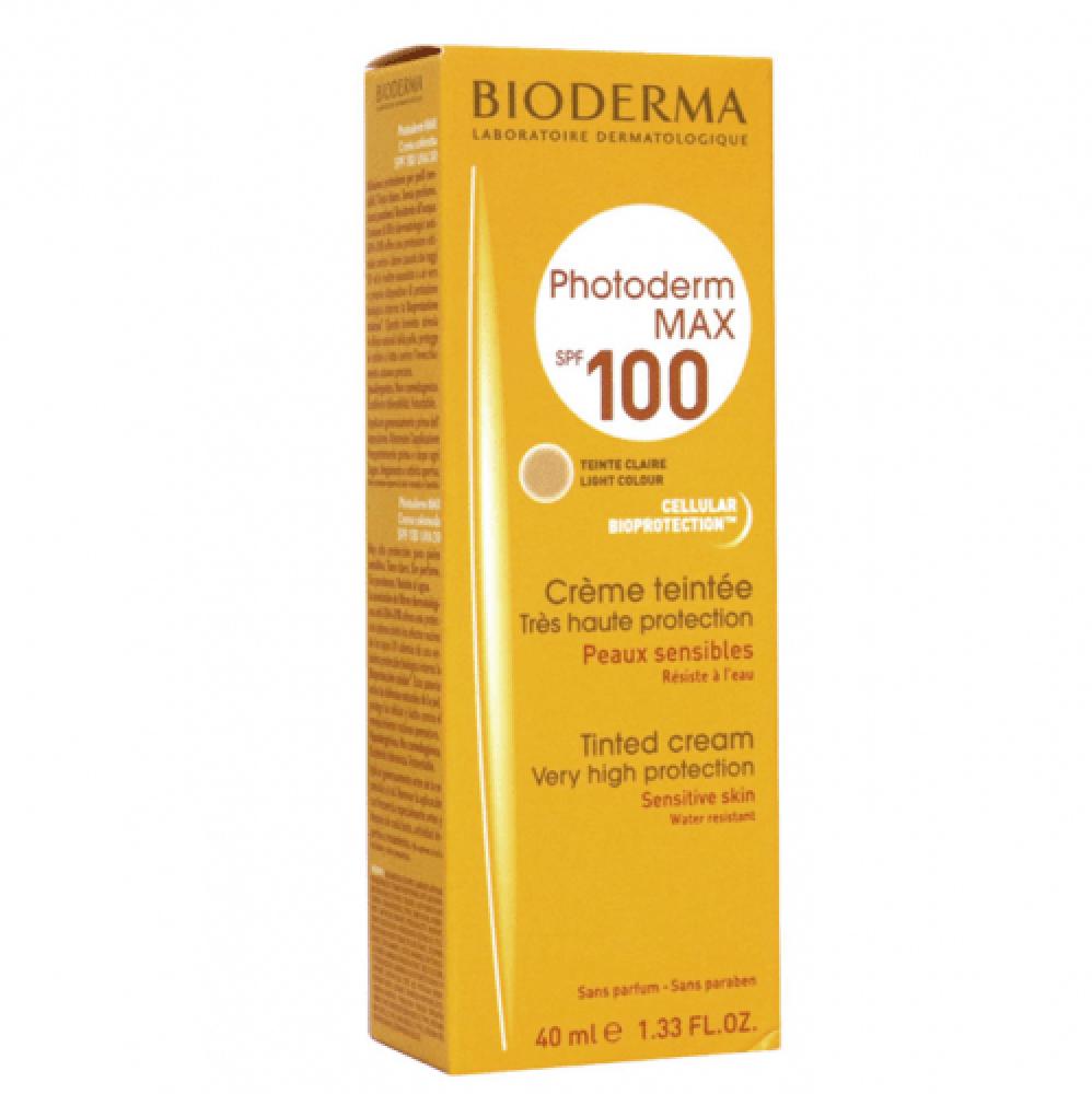 كريم بلون عالي الحماية من الشمس فوتوديرم ماكس 100 SPF من بايوديرما40