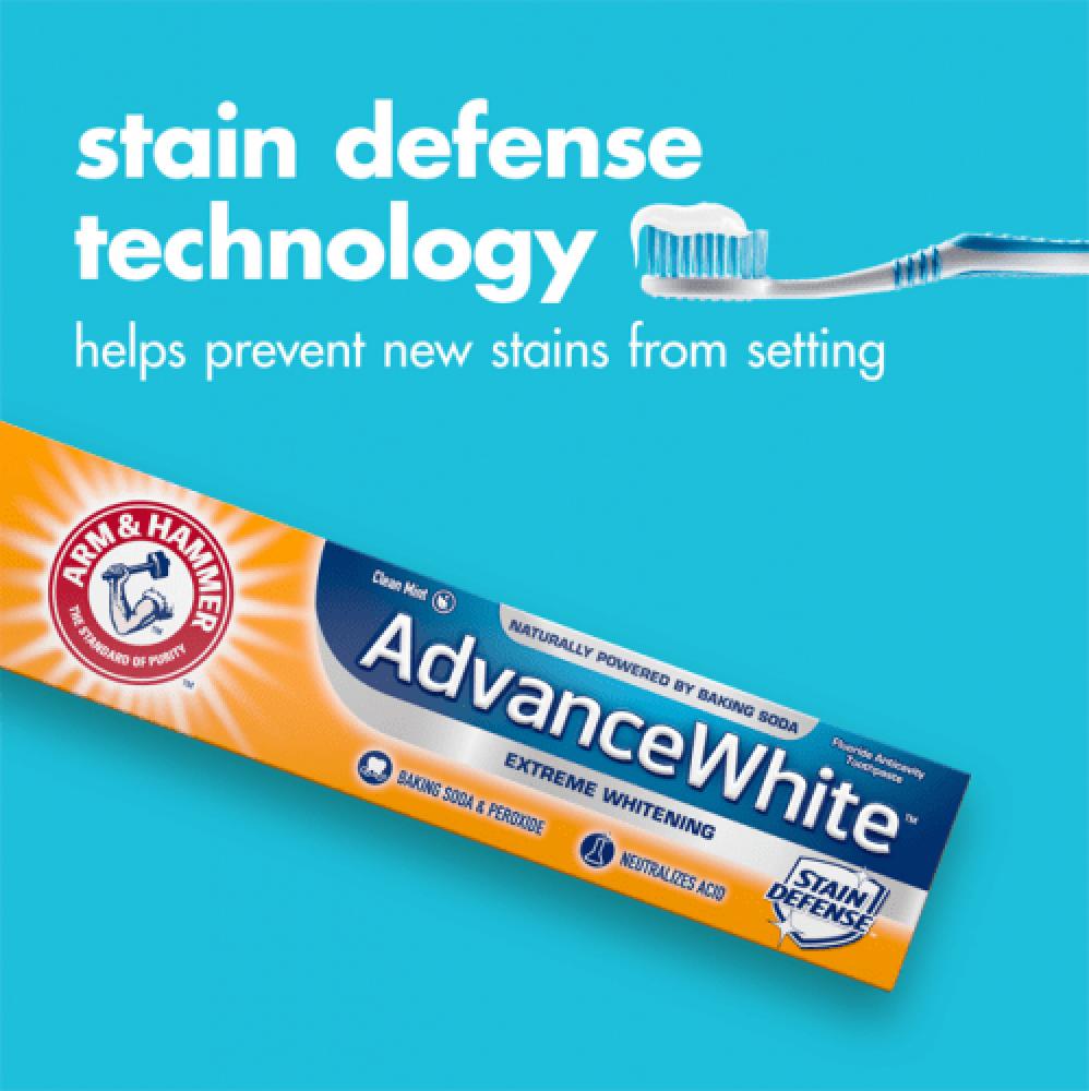 معجون اسنان مع التبييض المطور من ارم اند هامر - قطعتين