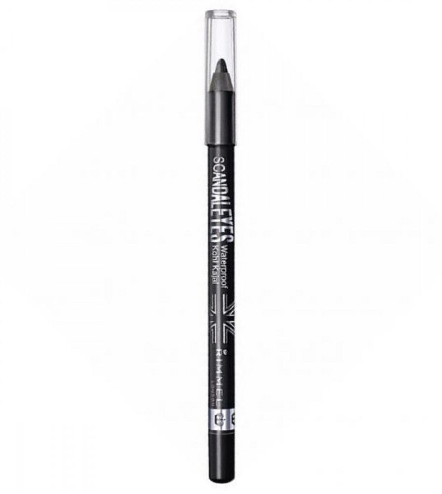 قلم تحديد العين سكاندلايز مقاوم للماء من ريميل لندن - اسود