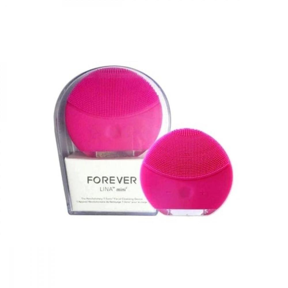 فورإيفر فرشاة لينا الصغيرة لتنظيف الوجه بالموجات فوق الصوتية وردي