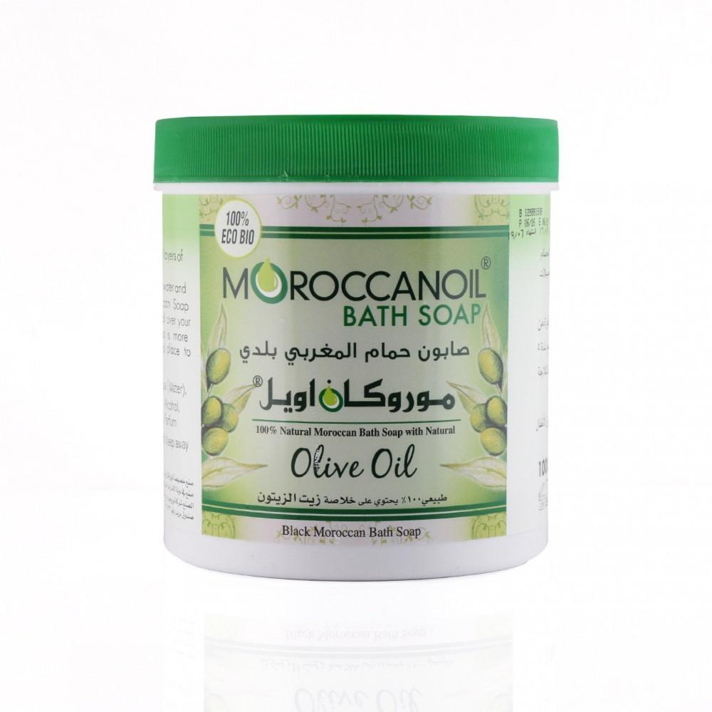 صابون الحمام المغربي البلدي بزيت الزيتون من موروكان اويل - 1000 جرام