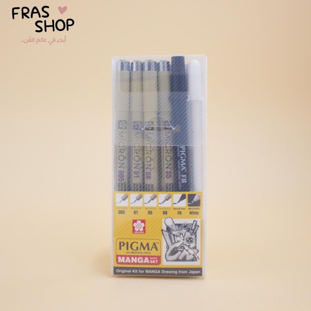 اقلام مايكرون مانجا 6 أقلام