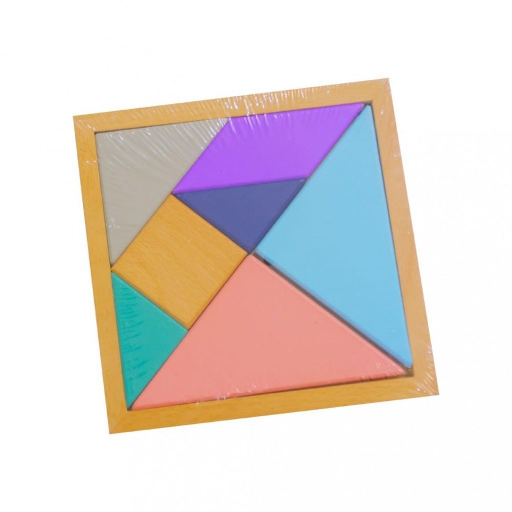 لعبة تركيبات هندسية خشبية