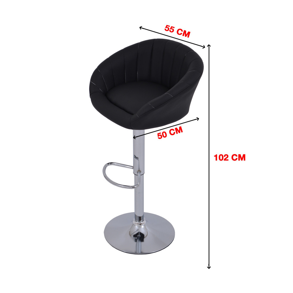 كرسي بوفيه جلد اسود C-DTK311BLACK من كاما