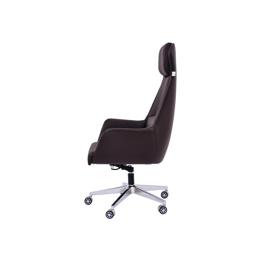 كرسي متحرك جلد بني zh-831a