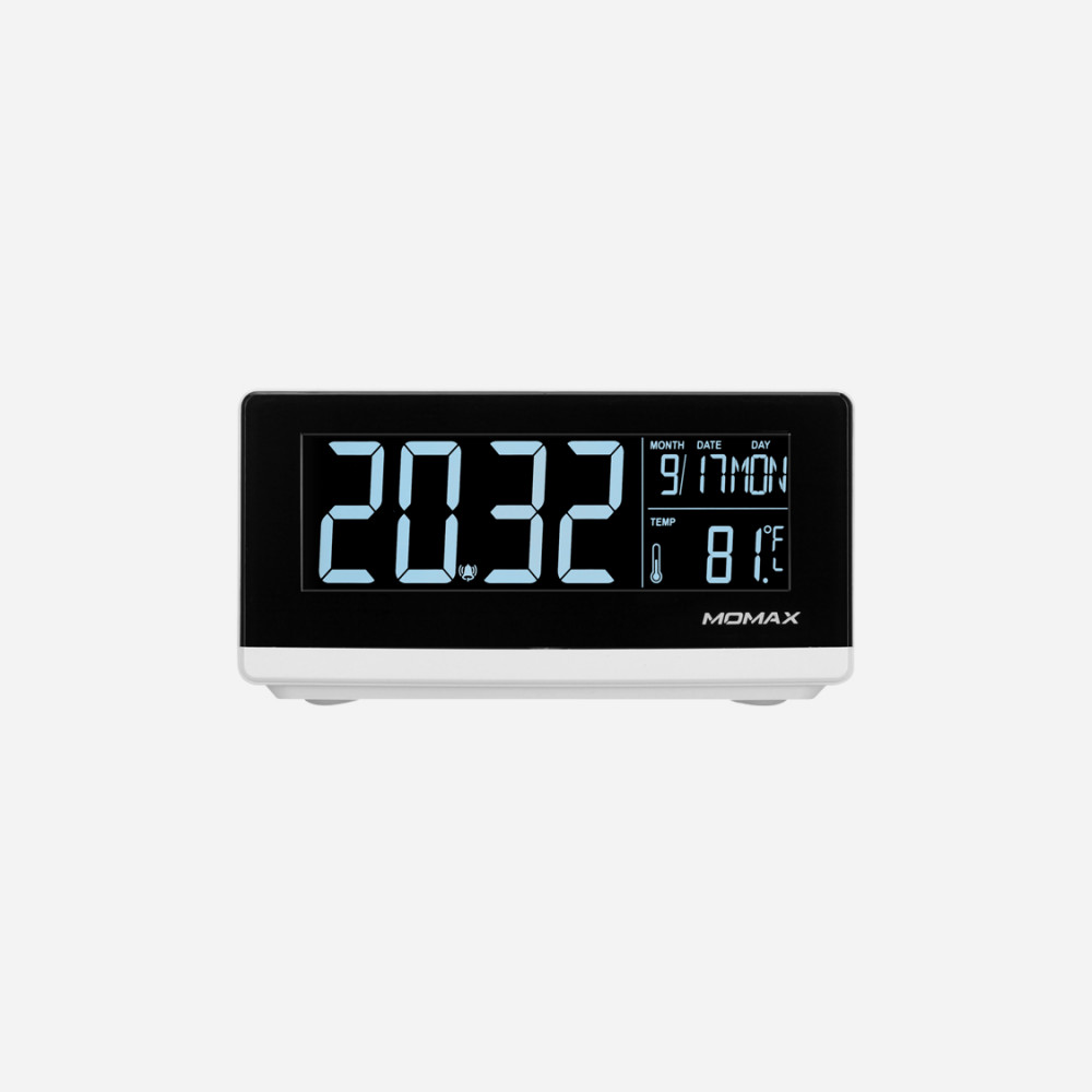 Q Clock Digital Clock with Wireless Charger