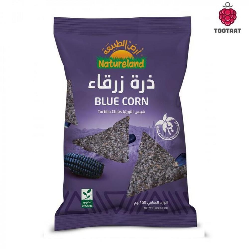 شيبس التورتيا ذرة ذرقاء Natureland Tortilla Chips Blue Tootaat